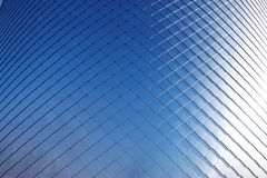 Aluminium façade as abstract background or texture. Copy space stock images