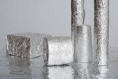 Aluminium foil figures Royalty Free Stock Photo