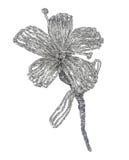 Aluminium foil flower. Hand-made aluminium foil flower  on white background Royalty Free Stock Images