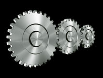 Aluminium gears Stock Photography