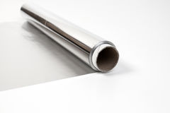 Aluminium gray foil Stock Photography
