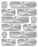 Aluminium guziki Royalty Ilustracja