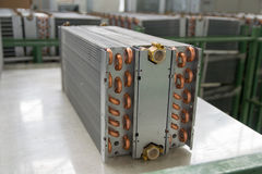 Aluminium heat exchanger Stock Photo
