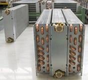 Aluminium heat exchanger Stock Image