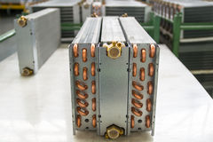Aluminium heat exchanger Stock Images