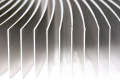 Aluminium Heatsink Closeup Royalty Free Stock Images
