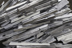 Aluminium ingot production in the factory. A lot of aluminium ingot production in the factory Stock Photography