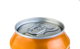 Aluminium jar with drink Royalty Free Stock Photography