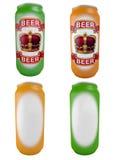 Aluminium jars for beer Royalty Free Stock Photo