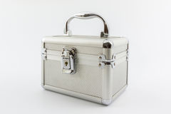 Aluminium jewelry box. Royalty Free Stock Photo