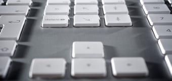 The aluminium  keyboard Royalty Free Stock Photo