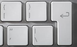 The aluminium  keyboard Stock Image