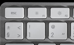 The aluminium  keyboard Royalty Free Stock Images