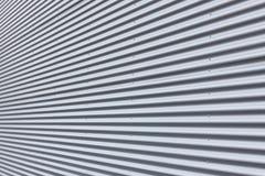 aluminium korrugerad vägg arkivbild