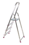 Aluminium ladder on white Royalty Free Stock Photo