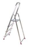 Aluminium ladder on white Royalty Free Stock Photo