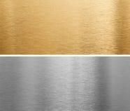 aluminium mässingsmetallplattor Royaltyfri Bild