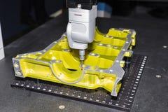 aluminium machinaal bewerkte delen geïnspecteerde afmeting royalty-vrije stock foto