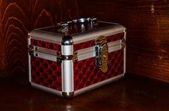Aluminium make-up case or jewellery accessories box Stock Photos