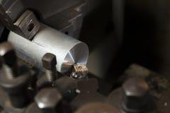 Aluminium metal Lathe Royalty Free Stock Photos