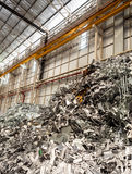 Aluminium and metal scrap pile in recycle factory Royalty Free Stock Images