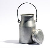 Aluminium milk bottle or urn Stock Photo