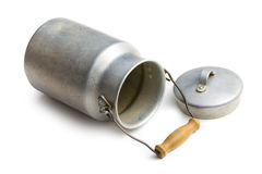 Aluminium milk can Stock Images