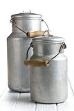 Aluminium milk can Stock Image