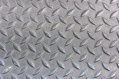Aluminium mit Raute formt Beschaffenheit Stockfotografie