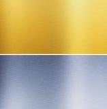 Aluminium och mässing sydde texturer Royaltyfria Bilder