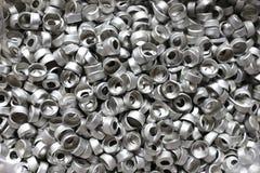 Aluminium part. Aluminium metal part as background stock images