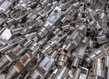 Aluminium parts background Royalty Free Stock Photos