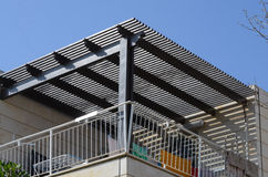 Aluminium Pergola. Zero maintenance wooden texture aluminium pergola Stock Images