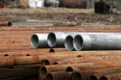 Aluminium pipes Stock Images