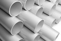 Aluminium Pipes Royalty Free Stock Image