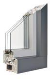 Aluminium/Plastic window profile Stock Image