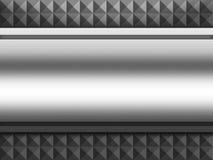 Aluminium plattabakgrund för metall Stock Illustrationer