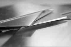aluminium plattor Arkivbild