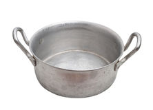 Aluminium pot isolated. Royalty Free Stock Photos