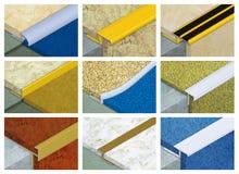 Aluminium profile for floor coverings Royalty Free Stock Photo