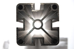 Aluminium profile HDR Royalty Free Stock Image