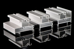 Aluminium profile sample Stock Photos