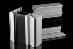 Aluminium profile sample Royalty Free Stock Images