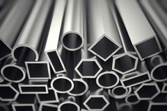 Aluminium profiles. Royalty Free Stock Images