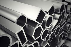 Aluminium profiles. Royalty Free Stock Photo