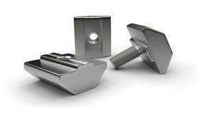 Aluminium profilowi akcesoria dokrętki, rygle (,) Zdjęcia Stock