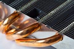 Aluminium radiator with copper heat pipe Stock Image