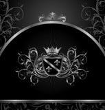 aluminium ramowy luksusowy szablonu rocznik Fotografia Royalty Free
