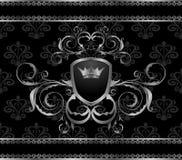 aluminium ramowy luksusowy szablonu rocznik royalty ilustracja