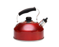 Aluminium red teapot Royalty Free Stock Photo